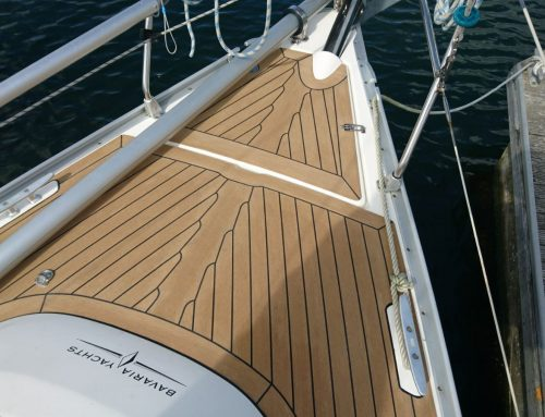 Permateek Decking on a Bavaria Yacht in Chichester Marina