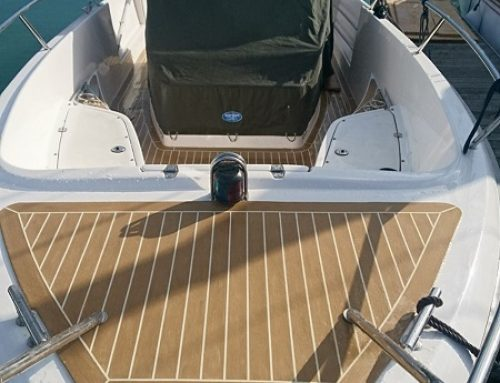 Permateek Synthetic Decking fitted on Windy Motor Boat