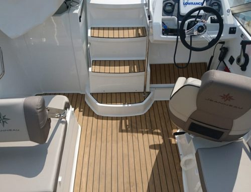 Synthetic Permateek Decking fitted on a 6.5 Camarat Boat
