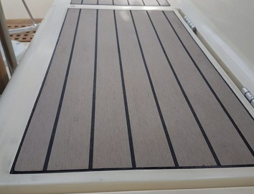 Permateek Boat Decking Fitted on Westerly Sailing Boat