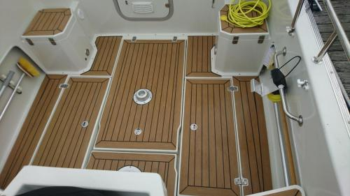 Sailing boat composite decking