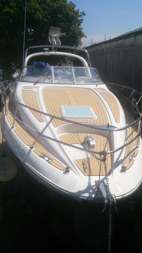 Permateek Decking completed to the flybridge of a motor boat based in Birdham Pool, Chichester