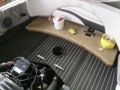 Permateek deckin on boat