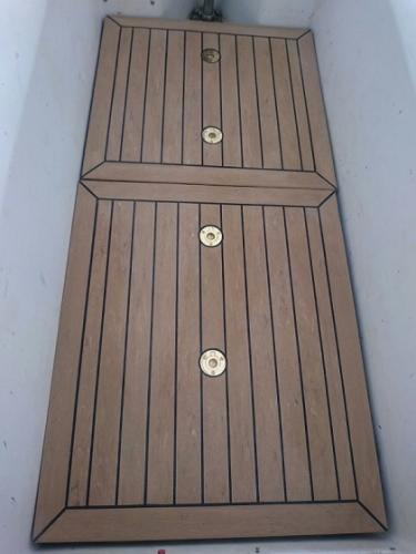 Synthetic boat decking