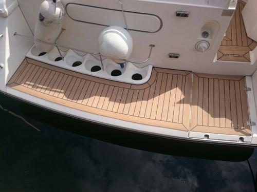 Boat Decking fitted to bathing platform