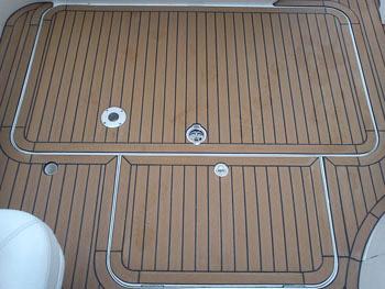 Permateek decking cockpit area