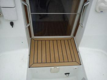 Sailing boat decking